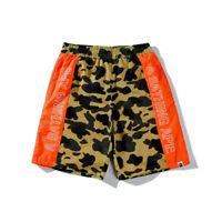 2019 POP Bape A Bathing Ape Fluorescence Camo Shorts Pants Casual Beach Shorts