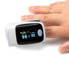 Finger Blood Oxygen Meter SPO2 OLED Pulse Heart Rate Monitor Oximeter Grey Top