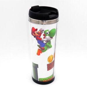 Super Mario Luigi Mug Creative Travel Coffee Water Tea Cup for Cars Adults 400ML