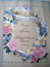 Dimensions Crewel Stitchery GOLD COLLECTION KIT,LOVE FOREVER WEDDING RECORD,1520