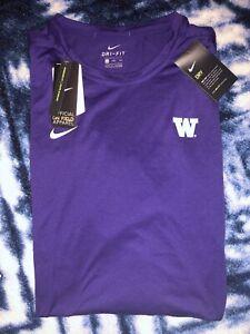 NWT Nike Dri Fit Washington Huskies Mens Long Sleeve Shirt XXL