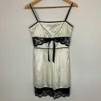 Guess Womens White Black Lace Square Neck Spaghetti Strap Dress Size S A7-12