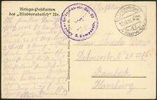 """Deutsche Feldpostkarte """"Kladdaradatsch Nr.1"""" Landwehr-Infanterie-Rgt. 99"""