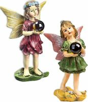 Magical Fairy Garden Fairies with Gazing Glass Ball Set of 2 Bundle of 2 Item...