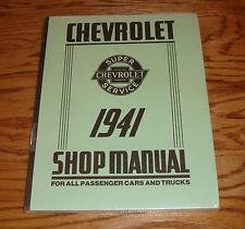 1941 Chevrolet Passenger Car & Truck Shop Service Manual 41 Chevy
