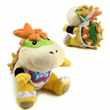 "7"" BOWSER KOOPA JR. Super Mario Bros Plush Soft Toy Stuffed Animal Doll Gift"