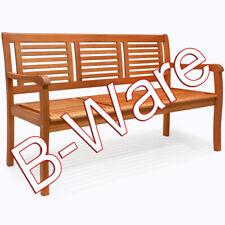 B-Ware Gartenbank 3 Sitzer Eukalyptus vorgeölt für Balkon und Terrasse