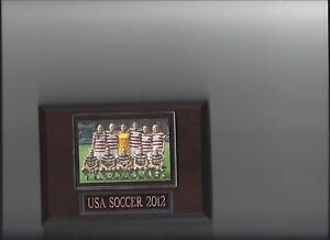 2012 USA TEAM PLAQUE USA SOCCER OLYMPIC GOLD WOMEN'S
