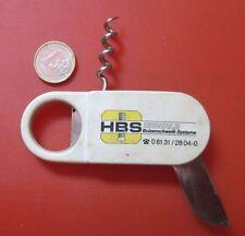 Corksrew  Penknife Pulltaps Patent HBS Heberle Bolzenschweis Systeme