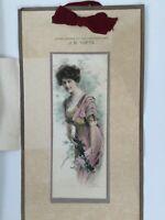 ANTIQUE 1912 Osborne Art Calendar Water Color Vintage Advertisement  Pre War Era