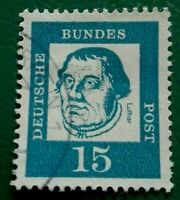 Germany:1961 -1962 Famous Germans 15 Pfg. Rare & Collectible Stamp.