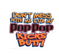 pop pop kid t shirt born love one pieces baby shower gift US new  sz 1,