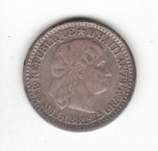 1882 Haiti 0.835 Silver 10 Centimes KM#44.