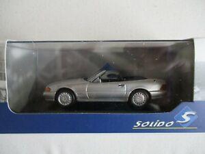 Miniature Solido Mercedes Benz 500 Sl Cabriolet 1989 IN Box 1 /43°