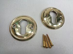 1 Paar Zylinderrosetten, Messing