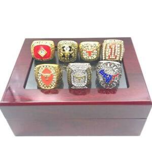 Texas Longhorns 7 Rings Football Championship Ring Set Newest