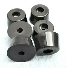 """1 1/4"""" x 3/4"""" (D X H) Large Rubber Feet W/ for Electronic & Music Equipment"""