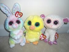 Ty,Bubby,Nugget,Twinkle Beanie Boo Trio,New Easter 2017,Bunny/Chic/Lamb.CUTE/TPd