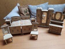Schönes altes Schlafzimmer für Puppenstube / Puppenhaus  Moritz Gottschalk?