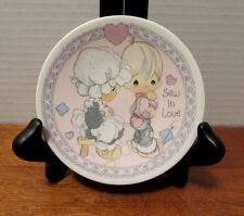 "1992 Precious Moments 4"" Collector Plate - Sew In Love"