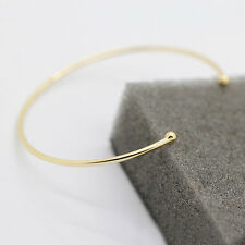 Women Silver & Black & Gold Plated Thin Warp Open Bangle Cuff Bracelet