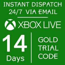 XBOX LIVE 14 DAY (2 WEEKS) GOLD TRIAL CODE - INSTANT DISPATCH 24/7 XBOX ONE ONLY
