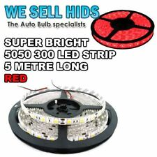 1x RED 5M 5050 SMD 300LED Strip Light Car House Under Counter Roll Stick on UK