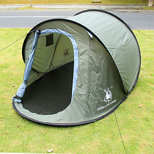 Army Green Pop Up Family Outdoor Camping Hiking Easy Setup Fold back Boat Tent