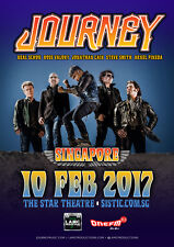 JOURNEY 2017 SINGAPORE CONCERT TOUR POSTER-Hard / Arena / Soft / Prog Rock Music