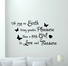 Girl Wall Decal Quote Vinyl Sticker Lettering Poster Nursery Decor Mural 257hor