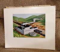 Vintage Print Litho Compass Coal Company No 2 Mine Oliver S Sibley
