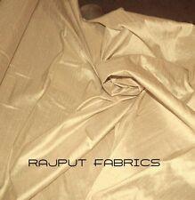 100% Natural Silk Dupioni Fabric Dark Cream Luxurious Dress Drapes By The Yard