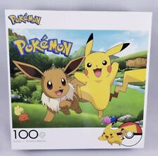 "Pokémon 100pc Jigsaw Puzzle Buffalo 2019 15""x11"" Pikachu And Eevee NEW"