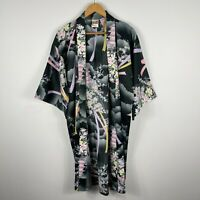 Traditional Japanese Kimono Dress Free Size Open Front Multicoloured 3/4 Sleeve