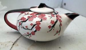 """Vintage Teapot cherry """"Winter Blossom"""" from Benaya marked JP 09 Made in Canada"""