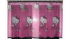 De Lujo Hello Kitty Encaje neto Voile Cortina con ranura Top Fit & Cintas