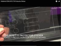 Für YAMAHA PSR-S970 Keyboard Schutz-Stickerset Display, Links und Volumen! & 770