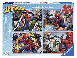 RavensburgerPuzzle 4x 100pieces Bumper Pack, Spiderman 6914