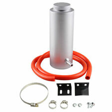 800ML UNIVERSAL SILVER RADIATOR COOLANT ALUMINUM CATCH TANK OVERFLOW RESERVOIR
