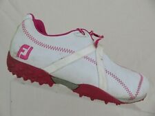 Footjoy M Project Hybrid White/Pink Sz 6.5 M Women Golf Shoes