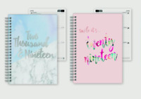 2019 A5 Week to View Hardback Note Book Diary Calendar Office Desk Diary Planner