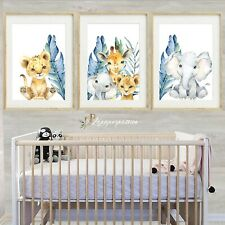Safari tropical Nursery Wall Prints, nursery wall prints,Boys wall prints