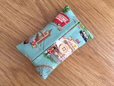 Handmade Packet Tissue Holder Made Using Cath Kidston London Scene Fabric