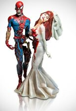 MARVEL MILESTONES ZOMBIES SPIDER-MAN & MARY JANE WEDDING STATUE MIB!! #646/2500
