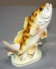 RARE Vtg Norcrest Jumping Perch Trout Fish Figurine #185 Japan Bone China