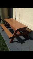 Kids Timber Outdoor Setting Picnic Table Brand New 1.2 Metres