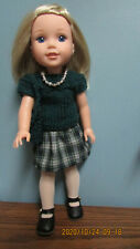 "Sweater and Skirt Set made to fit  14.5"" Wellie Wishers dolls  4+"