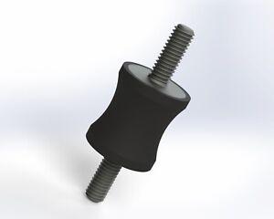 5-Pack: 20x22mm M6, Options, UK Made, Rubber Bobbin Anti Vibration Mount MM