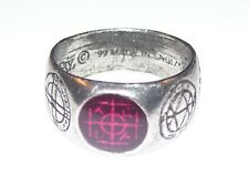 Alchemy Gothic AGLA MAGIC Talisman Ring 9.5 MEDIEVAL Sigil Kabbalistic sigillum
