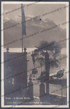 TRENTO RIVA DEL GARDA 63 MONTE BALDO HOTEL ALBERGO Cartolina FOTOGR. viagg. 1922